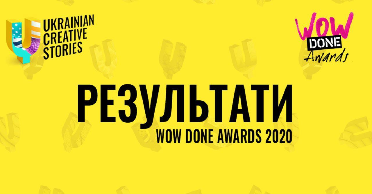 Результати WOW DONE AWARDS 2020