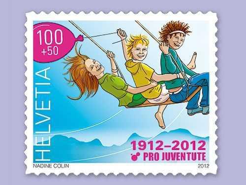 Швейцарські марки Pro Juventute 1939 та 2012 років