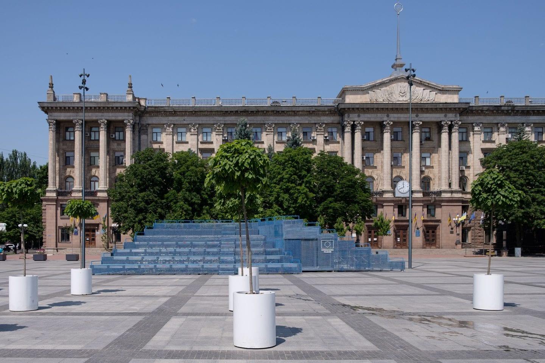 У Миколаєві відкрився Мобільний павільйон — представництво Дому Європи